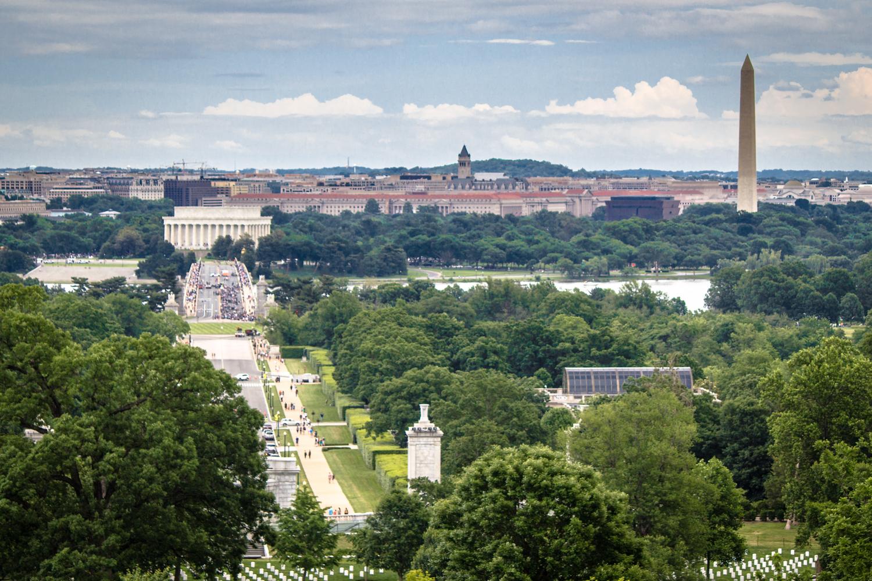 Ausblick vom Arlington House auf die Stadt