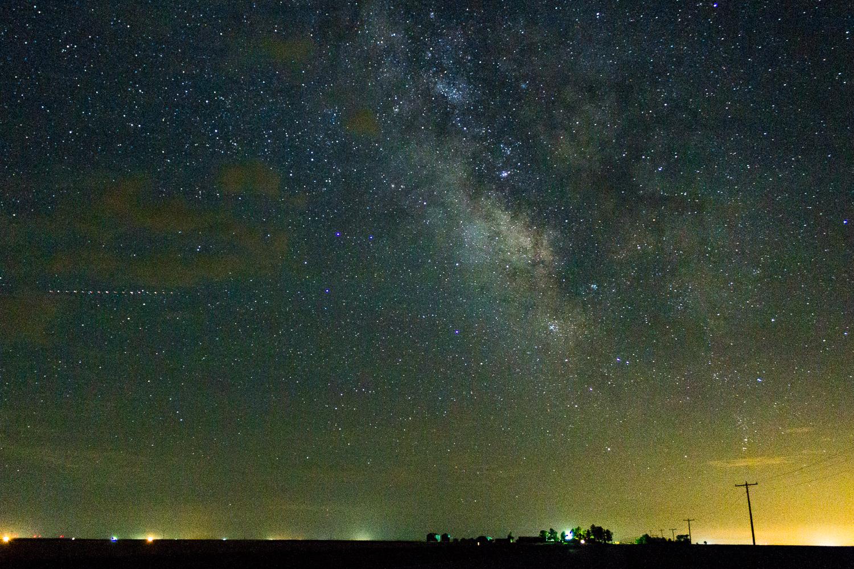 Milchstraße in Wyoming